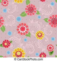 Texture seamless flowers
