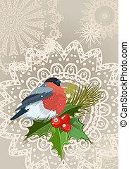bullfinch Christmas card