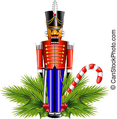 Nutcracker and a Christmas decoration. EPS 10, AI, JPEG