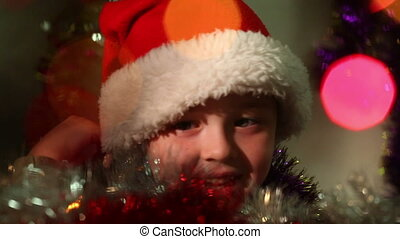 little boy dressed as Santa Claus  6