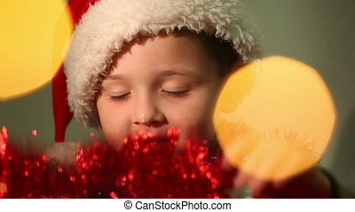 little boy dressed as Santa Claus 10