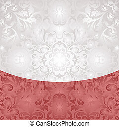 white and red background