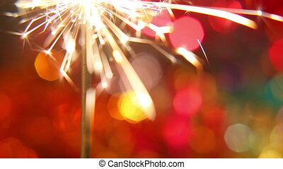 sparkler on a bright, colored background 2