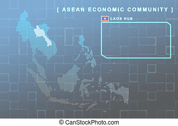 Laos country that will be member of AEC map