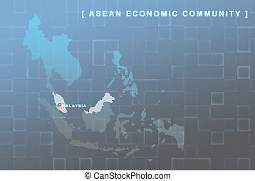 Malaysia country that will be member of AEC map
