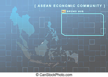 Brunei country that will be member of AEC map