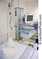 Intensive care unit with monitors - Intensive care unit and...