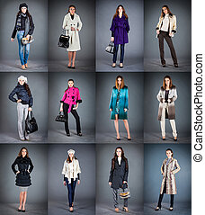 collection lady's clothes - Autumn winter collection lady's...