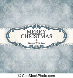 Christmas vintage frame - The vector image Christmas vintage...