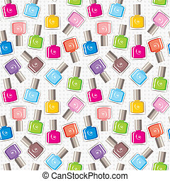 Seamless nail polish pattern - Vector illustration. It is...