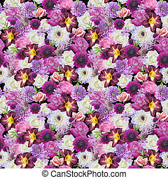 Abstracts seamless floral pattern Background from various...
