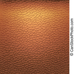 Old brown leather texture - Vector illustration of Old brown...