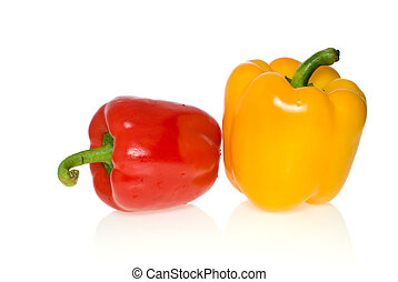 Red & yellow sweet pepper