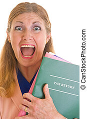 Tax Scream Help - Frightened middle aged woman terrified of...