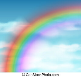 Natural background with rainbow. Eps 10