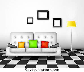 Vector interior design - Modern interior home design Eps 10