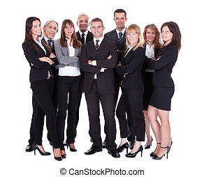 Lineup of business executives or partners - Lineup of...
