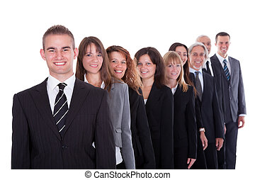 Group of confident business people in a team or partnership...