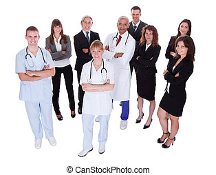 Hospital staff group - A happy group photo depicting a group...