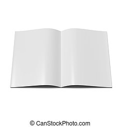 Open magazine with blank pages - Open magazine with blank...