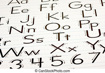 Learning Letters Chart - Back to School Learning Letters...