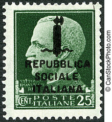 ITALY - 1944: shows Victor Emmanuel III (1869-1947) - ITALY...