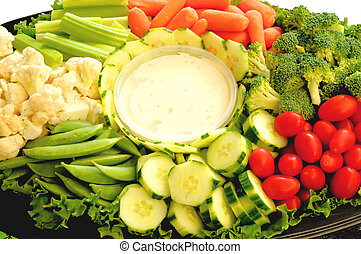 veggie platter - different vegtables on plate