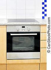 Blue kitchen oven