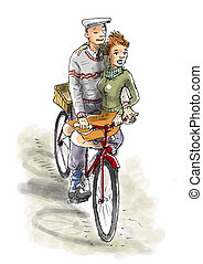 Lovers on the bike