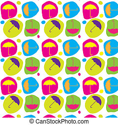 Good mood to bad weather - Seamless pattern with cute...