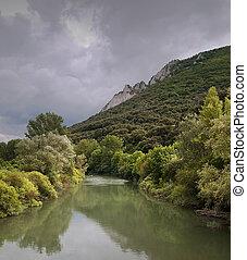 Mountain river near Pamplona, Spain