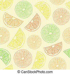 seamless pattern with abstract oranges