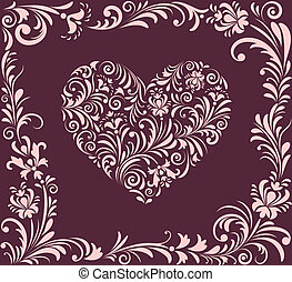 valentine heart - Vector illustration of valentine heart and...