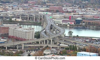 Portland Marquam Freeway Timelapse