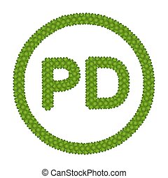A Four Leaf Clover of Public Domain Sign