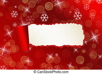 Torned paper Christmas backround