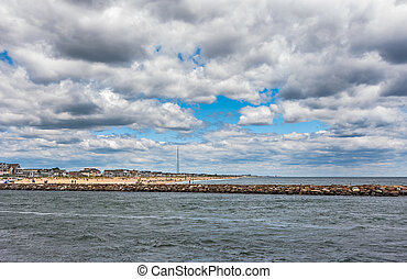 New Jersey Shore - Wide angle photo of the New Jersey Shore...