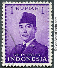 INDONESIA - 1951: shows President Sukarno (1901-1970) -...