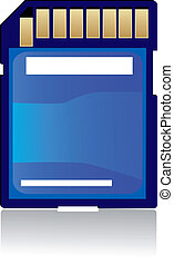 Memory card - Digital memory card isolated on white...