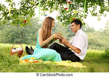 gift on a picnic