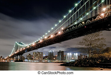 Manhattan Bridge - View under the Manhattan Bridge