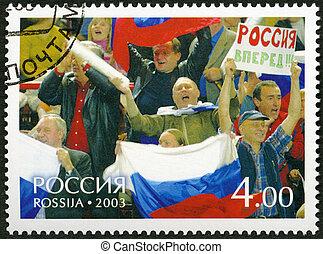 2003:, tribunes, tasse, timbre, -, russe, 2003,...