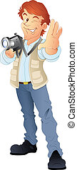 Young Photographer Vector - Creative Conceptual Design Art...