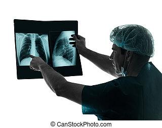 doctor, Cirujano, radiólogo, examaning,...
