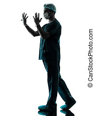 doctor surgeon man silhouette