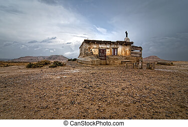 Shepherd hut at desert