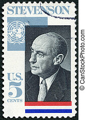 UNITED STATES OF AMERICA - CIRCA 1965: A stamp printed in...