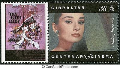 GIBRALTAR - 1995: shows Audrey Hepburn (1929-1993), actress...