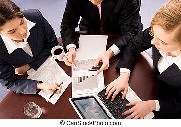 trabalhando, reunião