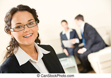 Smart leader - Portrait of confident business leader on the...